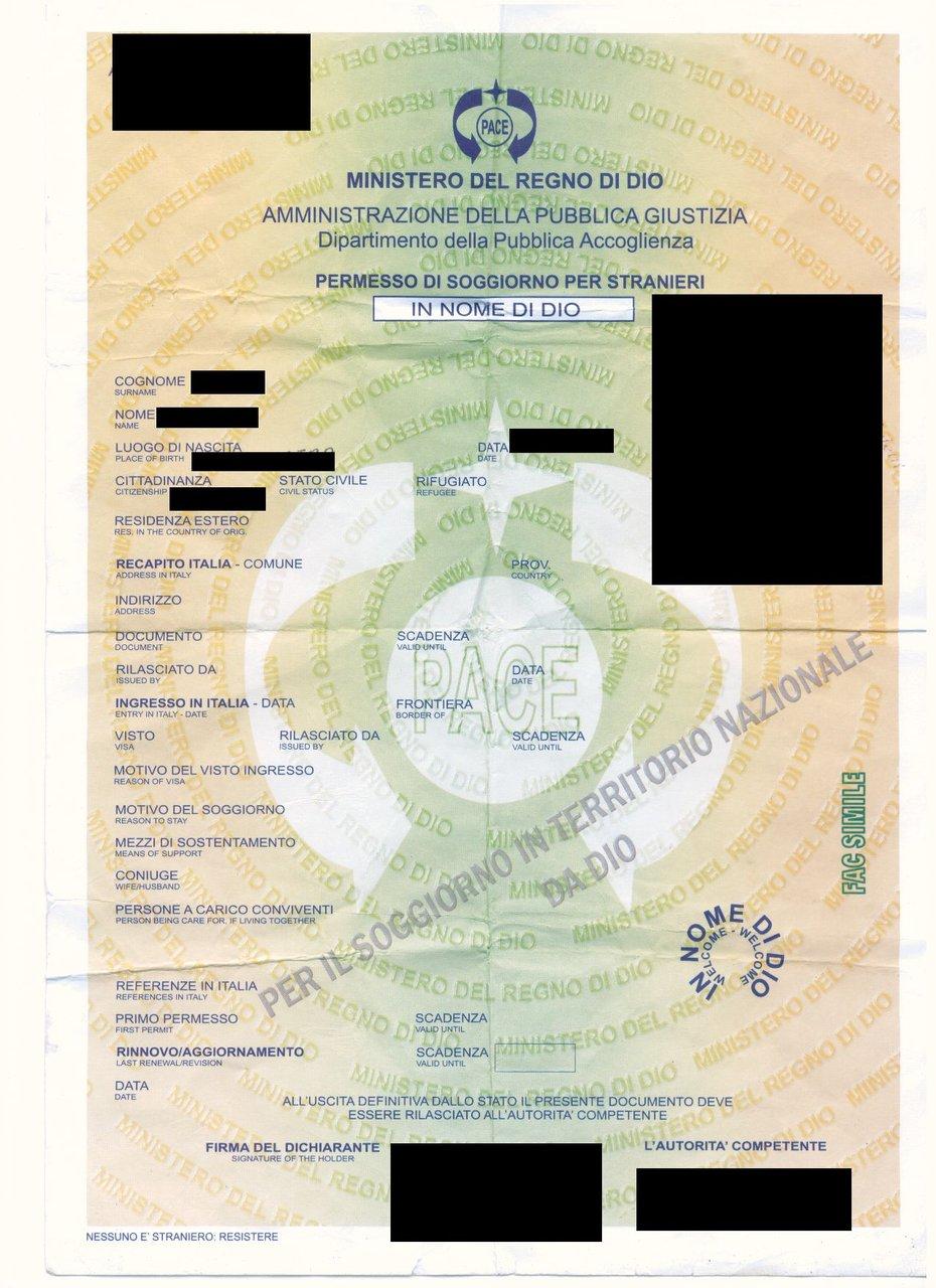 Mostra ai carabinieri permesso di soggiorno rilasciato dal for Controllo permesso soggiorno