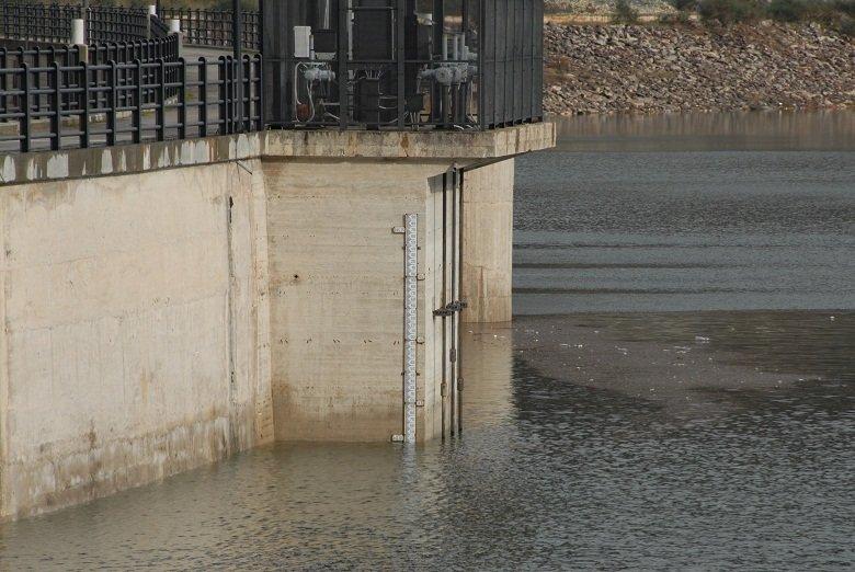Il livello dell'acqua a Pasqua; raggiunta quota 342,45 mt sul livello del mare. Foto di Gian Nicola Ferranti