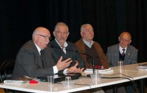 Il sindaco di Cerreto d'Esi, dottor David Alessandroni, M.Verdenelli, Gilberto Cruciani (già sindaco di Matelica) e Giovanni Trecciola