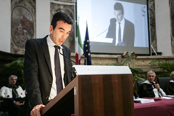 Maurizio Martina all'inaugurazione dell'anno accademico dell'Università di Macerata