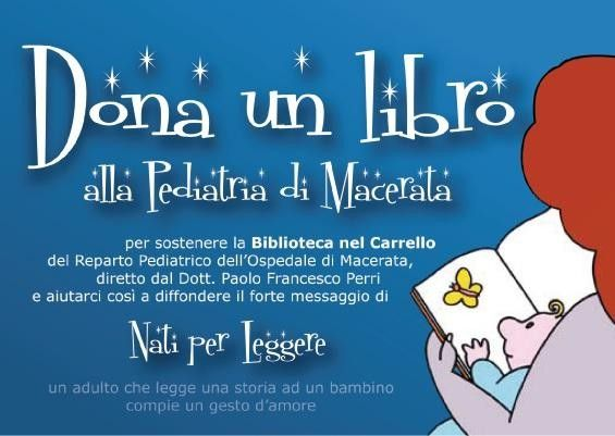 Image result for dona un libro alla pediatria di macerata