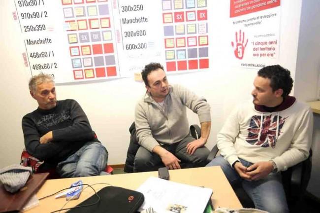 Da sinistra Andrea Rinaldelli, Sauro Scarpeccio e Luca Caraffa