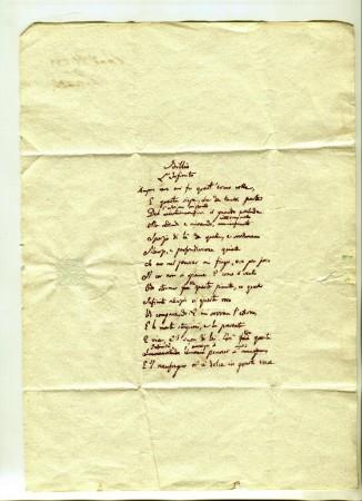 Per la prima volta esposto al pubblico il terzo manoscritto de l infinito di leopardi cronache - Caparezza l infinto la finestra ...