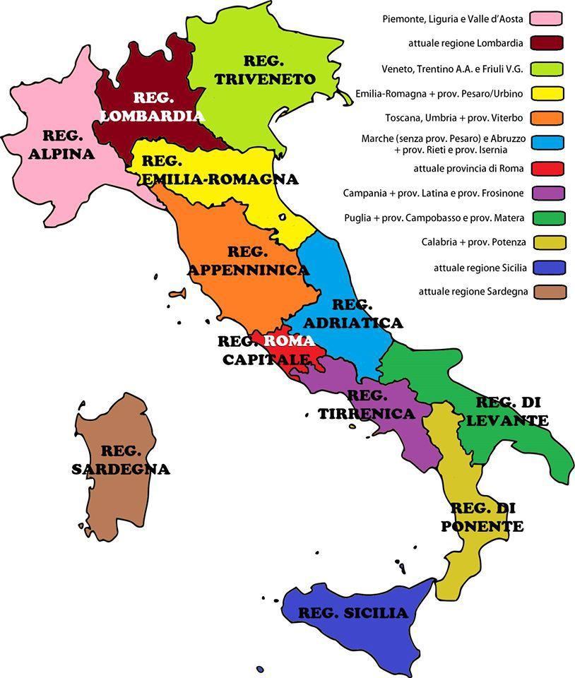 Riforma delle regioni marche unite all abruzzo niente - Regioni italiane non bagnate dal mare ...