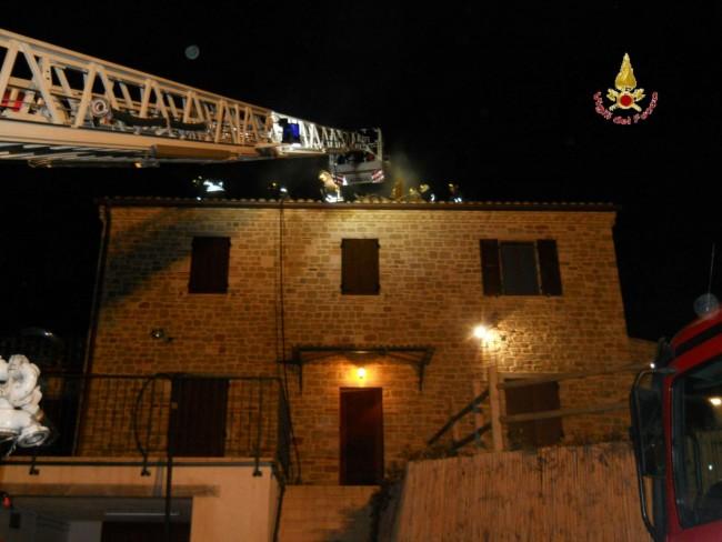 Fiamme nella notte brucia il tetto di una casa cronache maceratesi - Alzare il tetto di casa ...