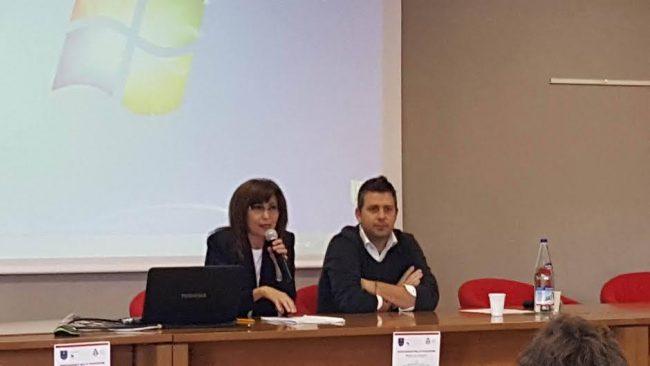 Loretta Bravi e il sindaco Alessandro Delpriori