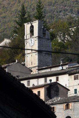 Castelsantangelo sul Nera dopo il terremoto del 26 ottobre