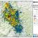 La mappa stilata dall'Ingv sulla sequenza sismica iniziata il 24 agosto.