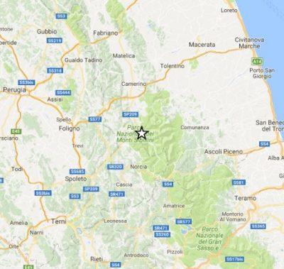 L'epicentro a Castelsantangelo sul Nera