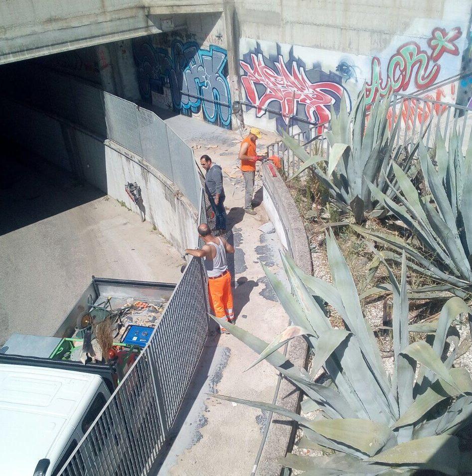 Pulizia del sottopasso cambia la viabilit porta marina - Pulizia casa dopo lavori ...