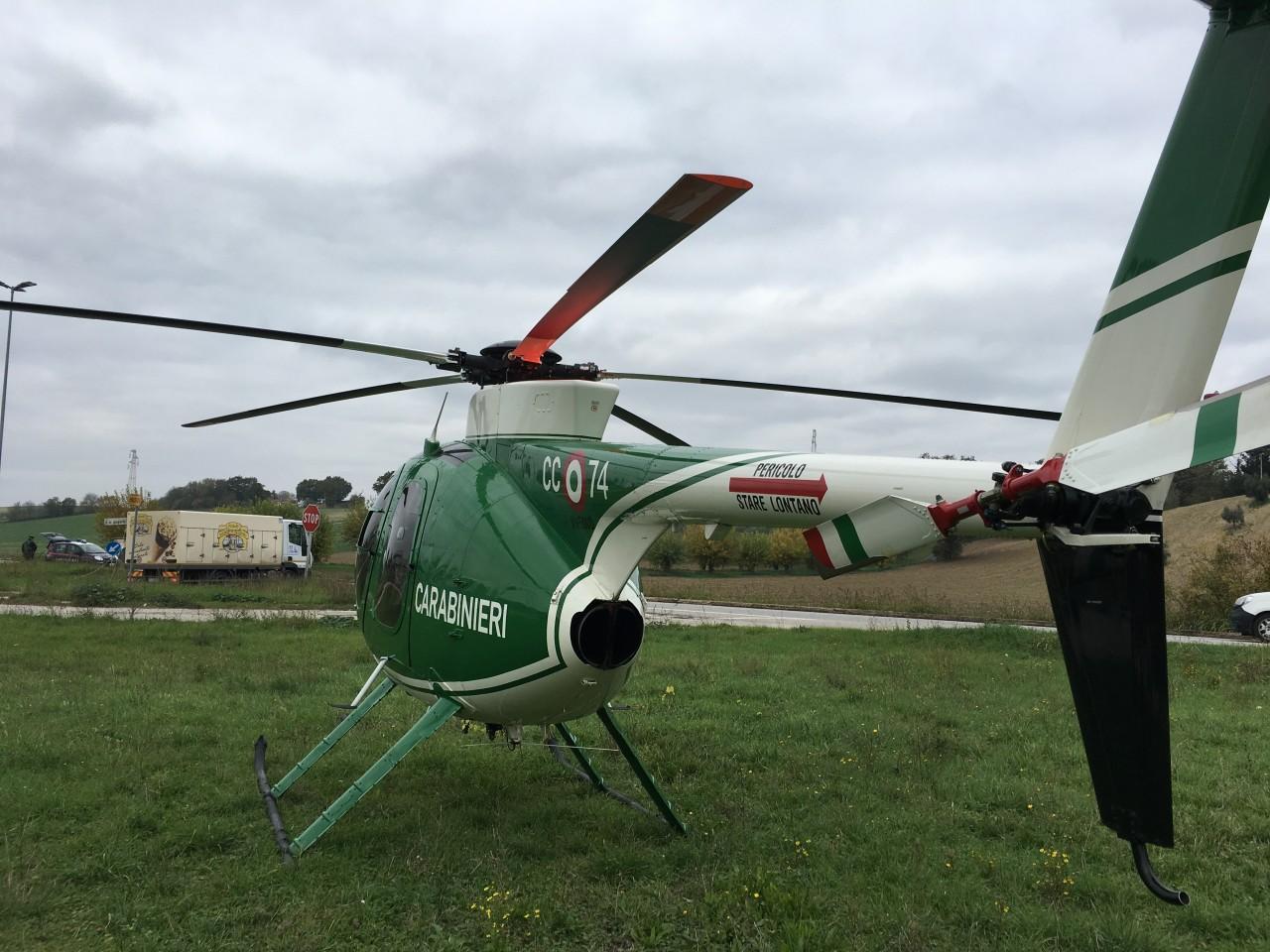 Elicottero Usato : Contro furti e rapine controlli dal cielo cronache maceratesi