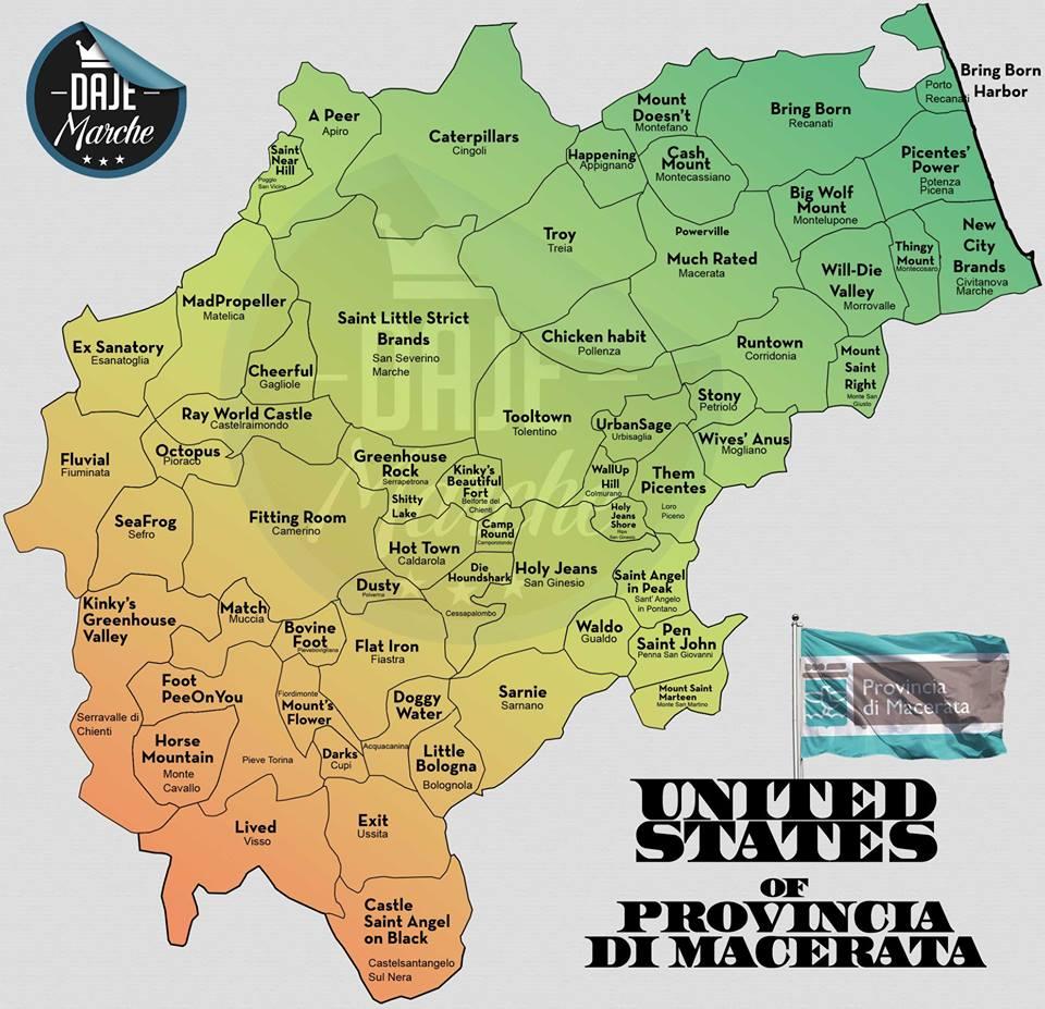 Marche Province Cartina