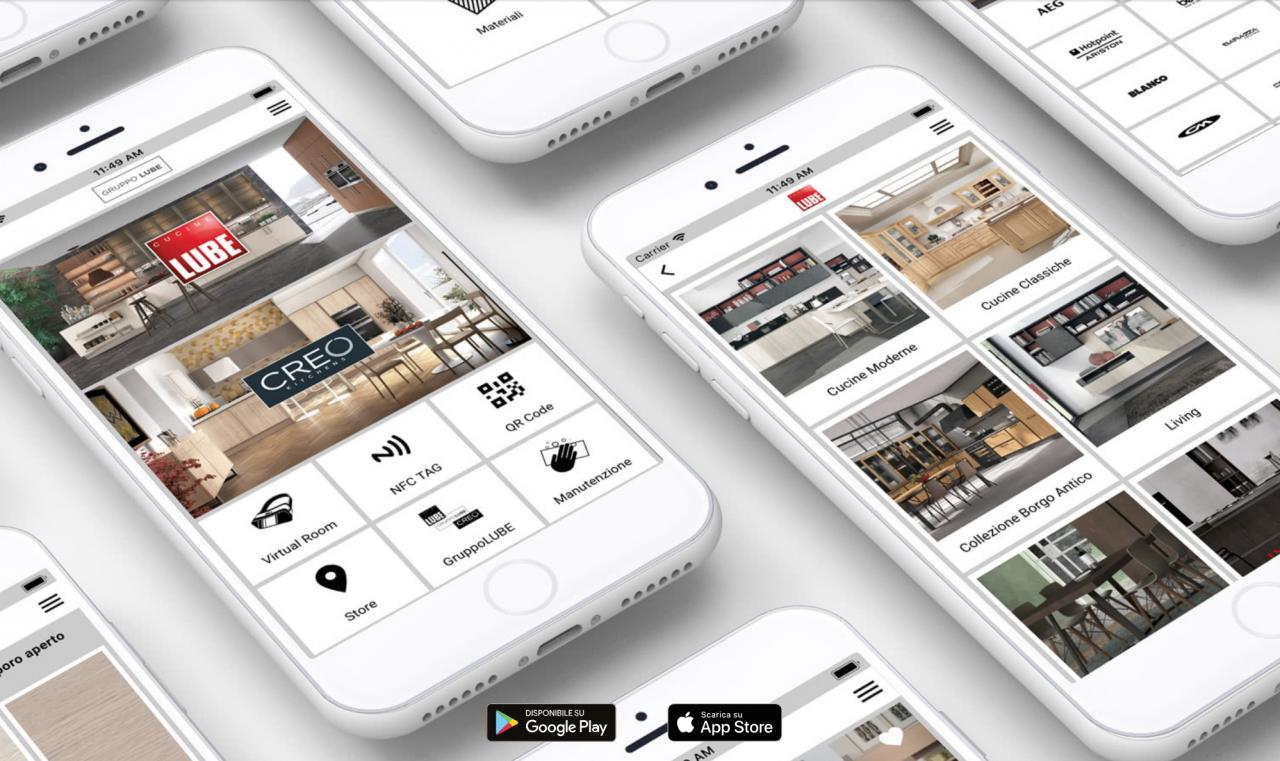 Nuova app del gruppo Lube, le cucine si comprano con un click ...