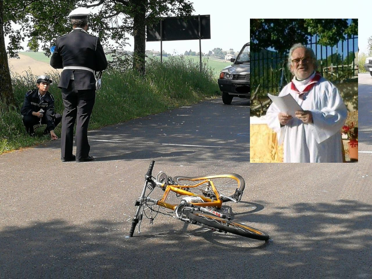 Sacerdote muore investito in bici sulla provinciale Macerata-Montelupone, è don Francesco Cocilova
