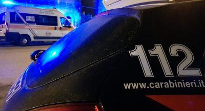 carabinieri ambulanza notte