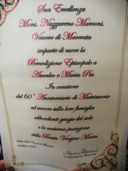 Sessantesimo Anniversario Di Matrimonio.Amedeo E Maria Pia Un Amore Che Dura Da 60 Anni Cronache Maceratesi