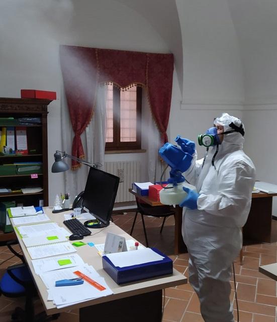 Nebulizzazione effettuata da personale Nitor