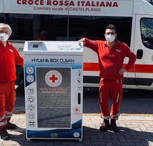 Il box Ozolife by Etp per Croce Rossa Italiana